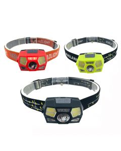 Linterna recargable por USB de la linterna del casco del sensor de movimiento de la linterna LED súper brillante