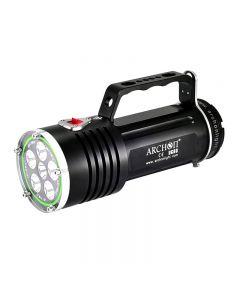 Archon Dg60 Wg66 6 * Cree Xm-L2 U2 Led Max 5000Lm 3 Modos Led Luz De Buceo + 6 * 18650 Batería + Cargador