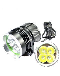 SKY RAY 4T6 Bicycle Light | 4800-Lumen 4xCree XM-L T6 LED 3-Mode Bike Front Light Set