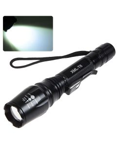 Convex Lens Cree XM-L T6 5-Mode 1000LM Zoom LED Flashlight (2 x 18650 Battery)