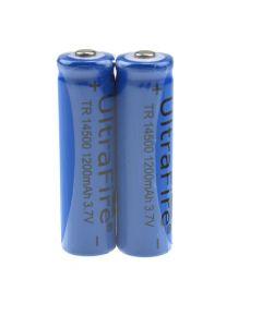 Ultrafire Tr 14500 1200Mah 3.7V Batería Recargable Sin Protección De Li-Ion (Paquete)