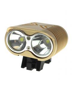 Luces De Bicicleta Led 2 * Cree Xm-L2 4 Modos Max 2000 Lumens Led Led Biciclety Con 4 * 18650 Paquete De Batería-Khaki Color