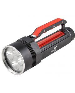 Lustefire Dv400 4 * Cree Xm-L2 Max 4000 Lumen Luz De Dizante Led Linterna De Buceo Handgrip-Red (2 * 26650)
