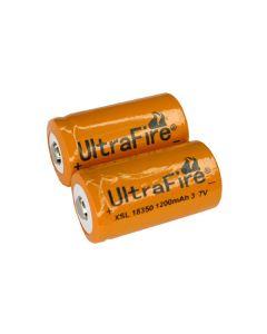 Ultrafire Xsl 18350 1200Mah 3.7V Batería De Ion Litio (Un Par)