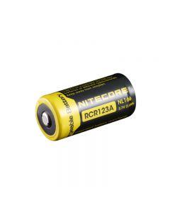 Nitecore Nl166 650Mah Rcr123A 3.7V 2.4Wh Batería Recargable De Iones De Litio Para Dispositivos De Alto Drenaje (1 Pc)