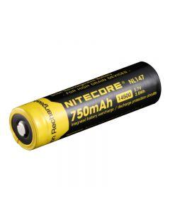 Nitecore Nl147 750Mah 14500 3.7V 2.8Wh Batería Recargable De Iones De Litio Para Dispositivos De Alto Drenaje