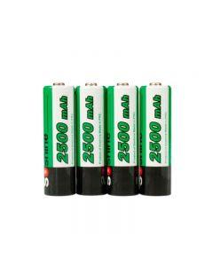 Batería Recargable De Soshine 2500Mah Aa 1.2V Ni-Mh Con Caja De Batería (4-Unidad)