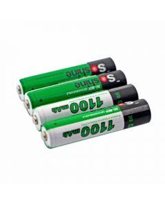 Soshine 1100Mah Aaa 1.2V Ni-Mh Batería Recargable Con Caja De Batería (4-Unidad)