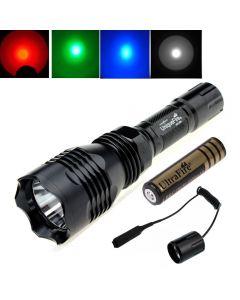 Linterna Led De Led Xpe De Cree Xpe De Sigrightfire Hs-802 Con 1 * 18650 + Interruptor De Control Remoto
