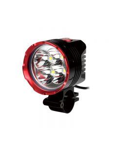 Uniquefire Hd-015 Color Rojo Negro 4 * Cree Xm-L2 3 Modos 4200 Lumens Luz De Bicicletas Con 4 * 18650 Juego De Baterías Impermeables