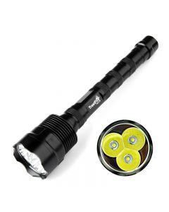 Trustfire Tr-3T6 Cree Xm-L 3 * T6 3800Lm Linterna Led De Alto Brillo (3 * 18650)