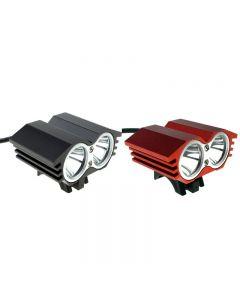 Solarstorm X2 M2 2 * Cree Xml-T6 2000 Lumen 4 Modo Led Led Light Set Con 4 * 18650 Battery Pack-Black