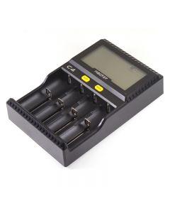 Cargador De Batería Original De Miboxer C4 Para 10340 10440 Aa Aaa 14500 18650 26650 Cargador Universal Del Cargador De Batería