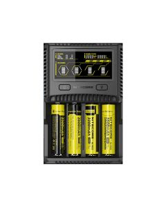 Nitecore Sc4 Cargador Inteligente Confiable Universal 4-Slot Charger Para Li-Ion Ni-Cd Nimh Baterías Y Dispositivos Usb (1Pc)