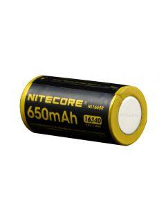 Nitecore Nl1665R 650Mah 16340 Cr123 Batería Recargable De Ión De Litio Recargable 3.6V 2.34Wh