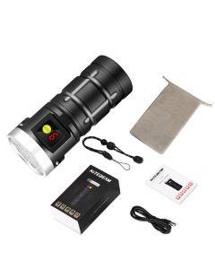 Nitebeam X12UV 9*Osram 6500K 3*UV 365nm UV USB Type-C LED Kit de linterna recargable