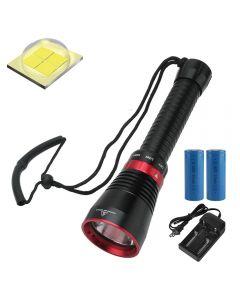 6000 lúmenes XHP70.2 LED Linterna de buceo Linterna de pesca de peces Luz submarina