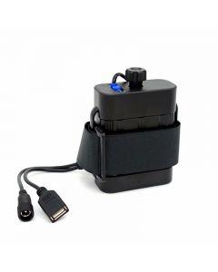 Caja de batería impermeable 2x26650 caja de alimentación entrada / salida CC 8,4 V salida USB 5 V para lámpara de luz de bicicleta