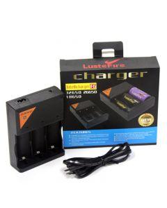 Cargador de batería LusteFire F6 Intellicharger 110-240V para batería de iones de litio 32650 26650 18650