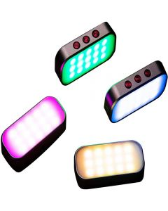 7 colores Light Pocket Selfie Fill Light 360mah Batería recargable para fotos de teléfono / Transmisión en vivo / Llamadas con zoom / Grabación de video / Fiesta disco (1 pieza)