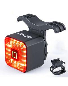 Luz de bicicleta inteligente con doble soporte GIYO, luz trasera, accesorios para bicicleta, señal de parada, lámpara de freno, linterna de seguridad LED