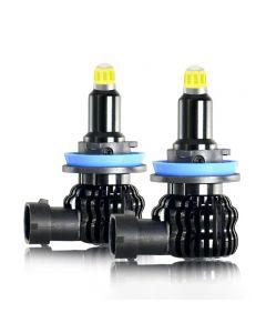 2 uds H1 H7 H11 bombilla LED luz antiniebla para coche 8 lados 360 grados H8 H3 9005 9006 12V 6000K para faro automático