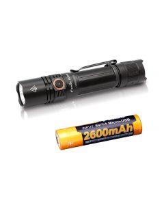 Carga USB Fenix PD35 V3.0 1700-Lumen IP68 Tac LED Linterna Toch Kit
