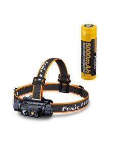 Fenix HM70R - Linterna frontal eléctrica recargable 21700 con triple fuente de luz