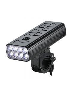Linterna de 10000mAh para bicicleta, luz delantera, 8T6, LED, pantalla recargable por USB, faro de ciclismo MTB