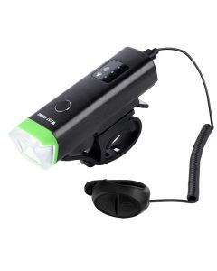 WEST BIKING Luz delantera para bicicleta 1800mAh USB recargable Luz LED para bicicleta Luz impermeable para bicicleta