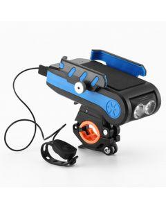 La bicicleta de 4000mAh LED enciende la luz de la bicicleta delantera con la linterna recargable del USB del tenedor del teléfono del cuerno