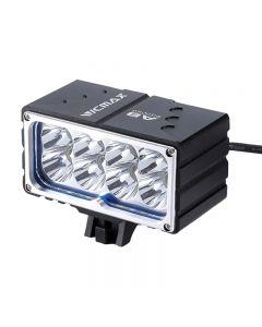 VICMAX A8 Luz de bicicleta XM-L2 (u2) LED 7200LM 8xT6 Luz LED Luz de bicicleta Luz delantera 18650mAh Paquete de batería