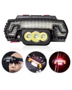 T6 LED faro de bicicleta sensor de carga USB faro de advertencia de bicicleta de montaña luz trasera 8 modos