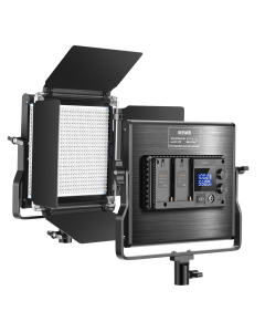 Panel LED bicolor regulable con luz de video LED 660 mejorada de Neewer con pantalla LCD para fotografía de grabación de video