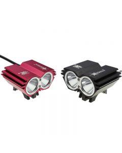 Solarstorm X2 2000-Lumen Dual Cabeza Biciclete Light Con 2 * Cree Xp-L V5 Led 4 Modos (4 * 18650 Batería)
