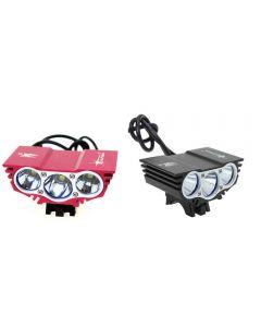 Solarstorm X3 3Xcree Xm-L U2 4-Modos De Luz De Bicicleta De 2500 Lumen