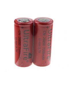 Ultrafire Cn 26650 3.7V 7200Mah Batería De Ion Litio Sin Protección-2 Paquete