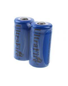 Ultrafire St 16340 1200Mah 3.6V Batería Recargable De Ion De Litio (Paquete De 2)