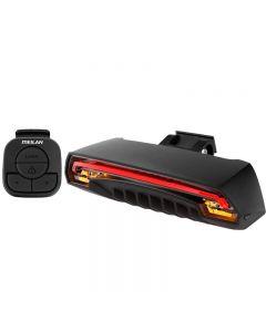 Meilan x5 luz de bicicleta de freno inteligente inalámbrica luz delantera LED señal de giro accesorios de bicicleta